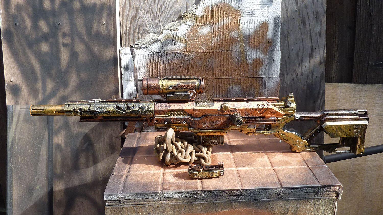 Steampunk Sniper Rifle Nerf Gun LONGSTRIKE with Scope. $119.00, via Etsy.