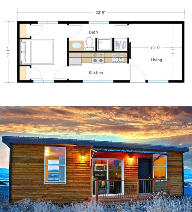400 Square Foot Skyline By Zip Kit Homes Tiny House Plans Tiny