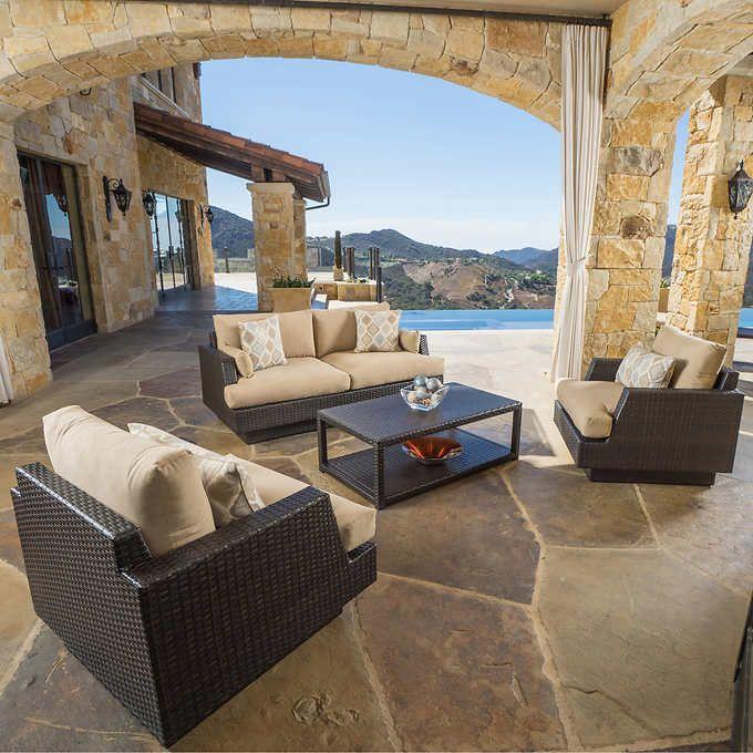 Portofino Comfort 4-piece Seating Set in Espresso | Patio ...