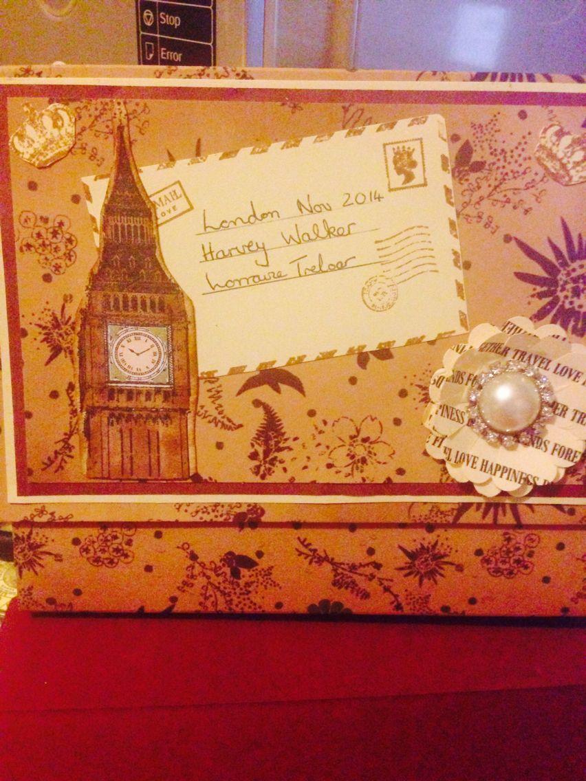 My memories album in a box made from creativecafegirl tutorial.