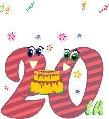 20th Anniversary Happy Anniversary Clip Art Anniversary Scrapbook Happy Anniversary