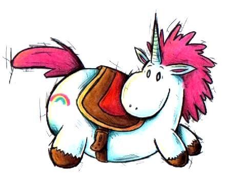 36+ Fat unicorn black and white clipart ideas