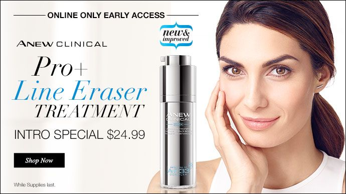 Online only early access. New Anew Clinical Pro+ Line Eraser Treatment.