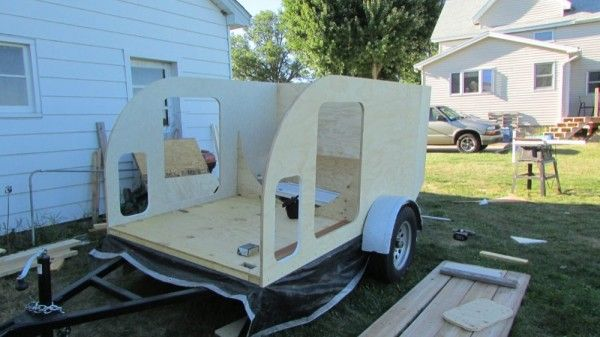 This Is An Anonymous Reader Submitted Guest Post DIY Tiny Camping Trailer Submit The Weighs 1280 Lbs Empty But Can Still Be Pulled With A 4