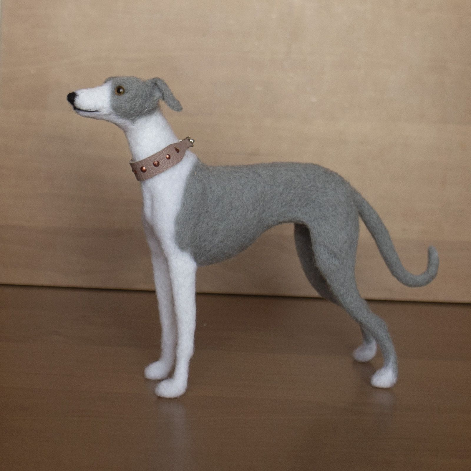 Needle Felted Greyhouhd Dog Statue Italian Greyhound Gift Etsy
