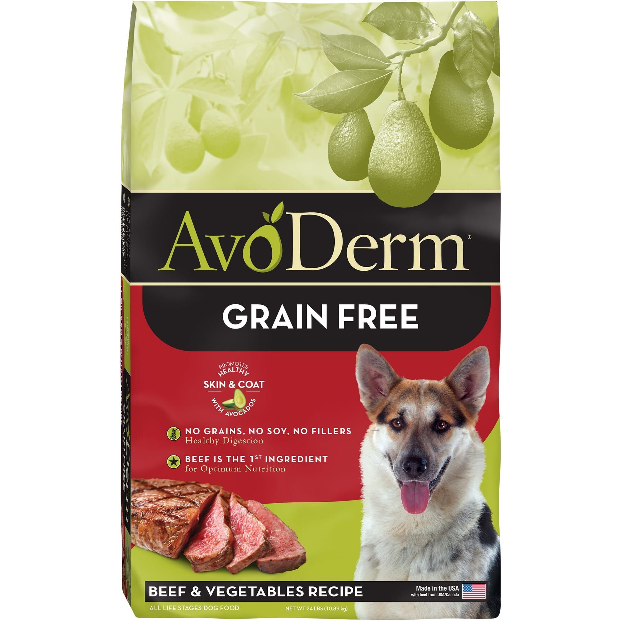 Avoderm Natural Grain Free Beef Vegetables Formula Dry Dog Food