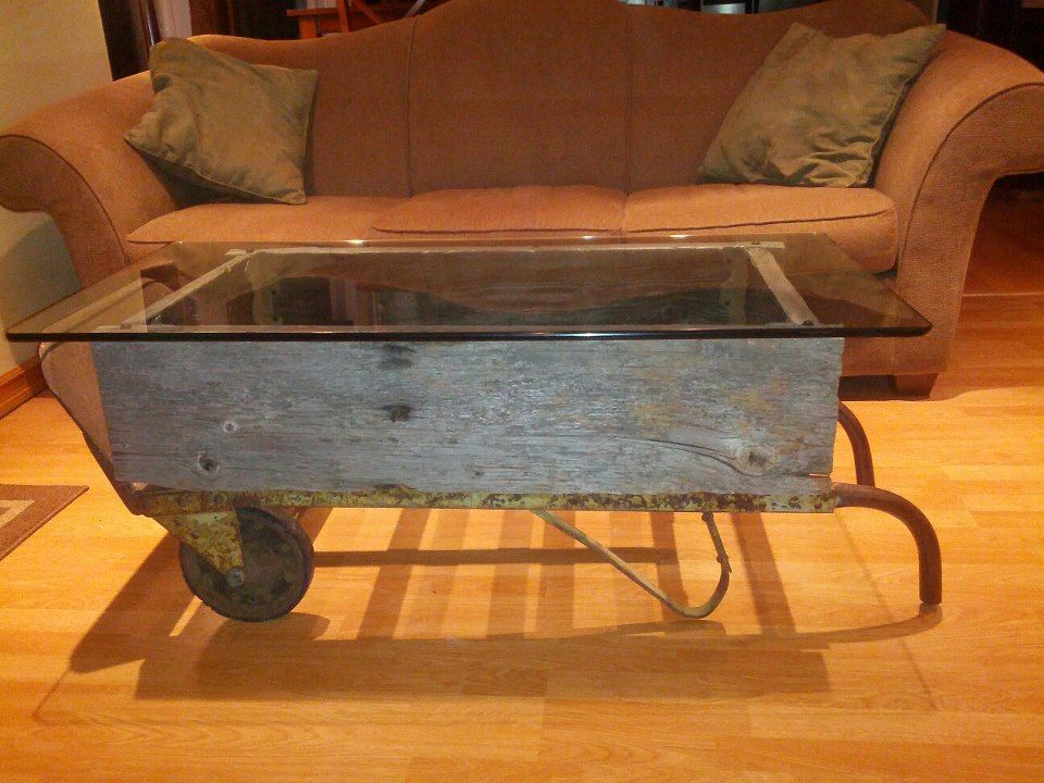 Upcycle Vintage Hand Truck Into Coffee Table...I Like Most Of This One