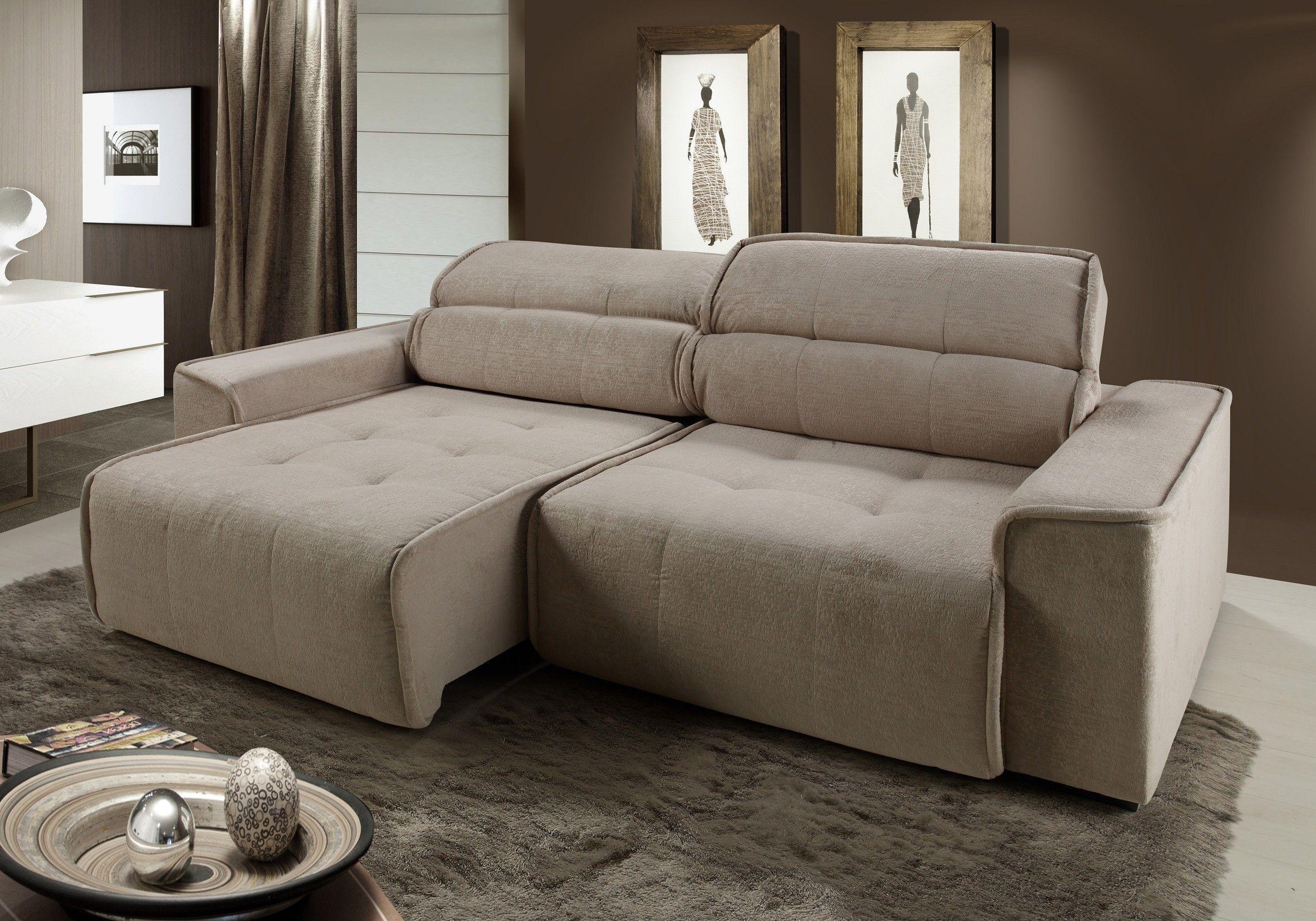 Sof premier 3 lugares assento retr til e encosto for Sofa 7 lugares retratil e reclinavel firenze
