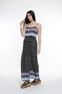 Mακρύ εμπριμέ φόρεμα