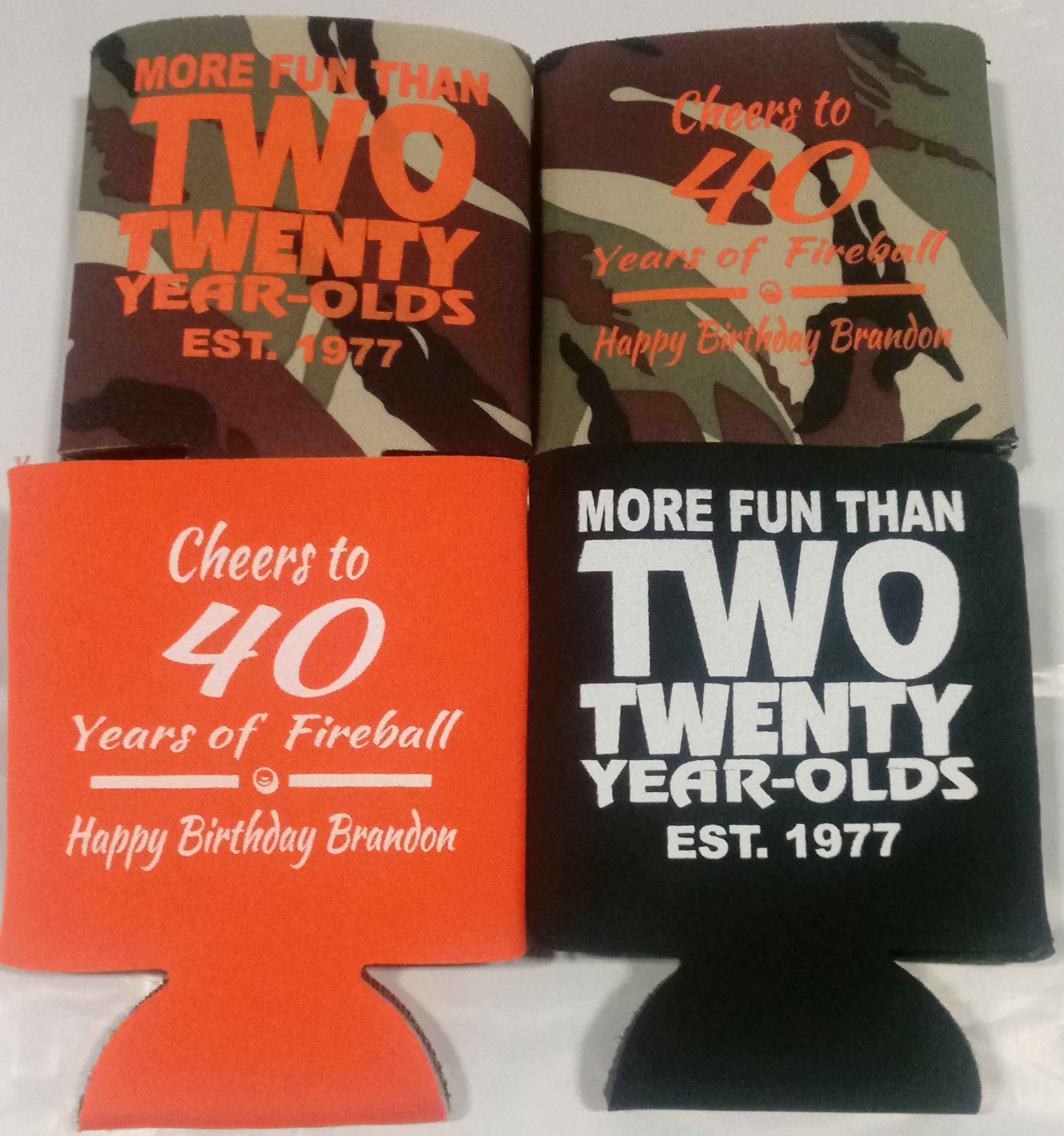 Cheers to 40 years Free Printed Sample