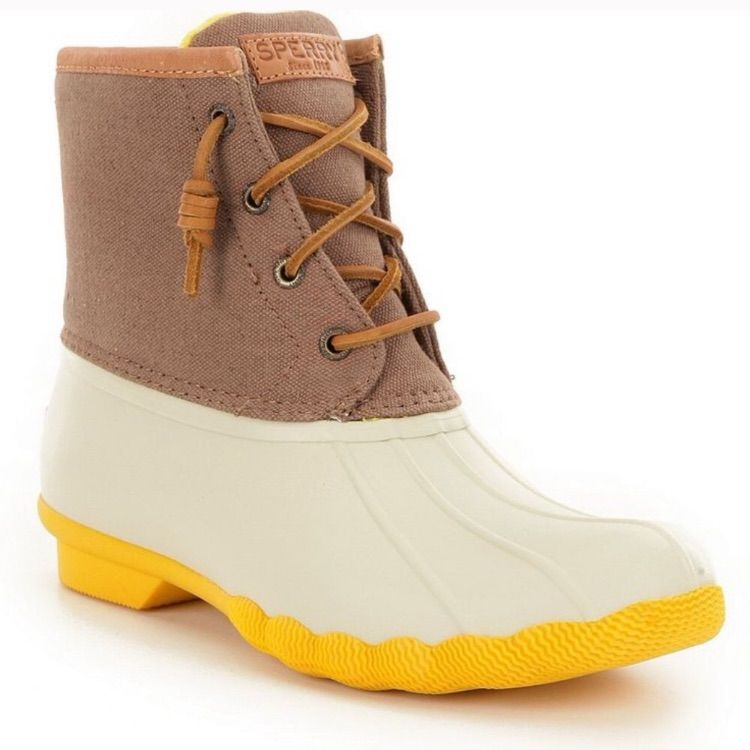 Sperry Shoes | Sperry Saltwater Duck Boot Yellow | Color