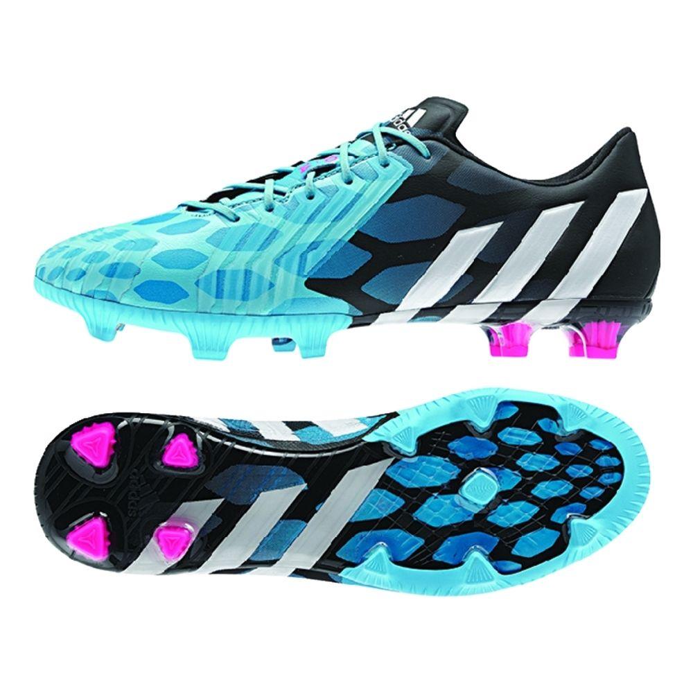 Adidas Predator Instinct FG Soccer Cleats (Solar Blue/Core White/Core Black)