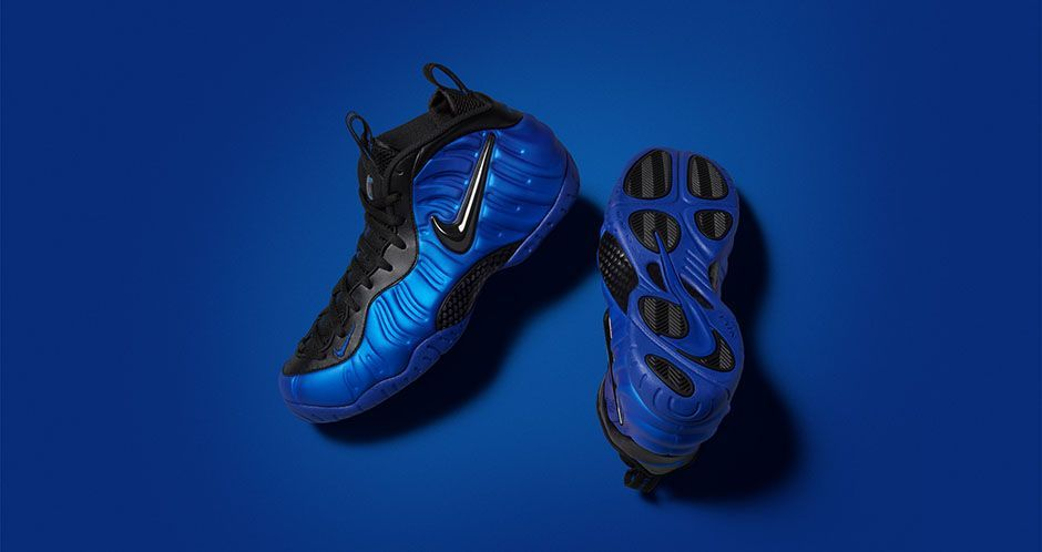 The Nike Air Foamposite Pro Hyper Cobalt boasts a clean, colorful look that  beautifully recreates