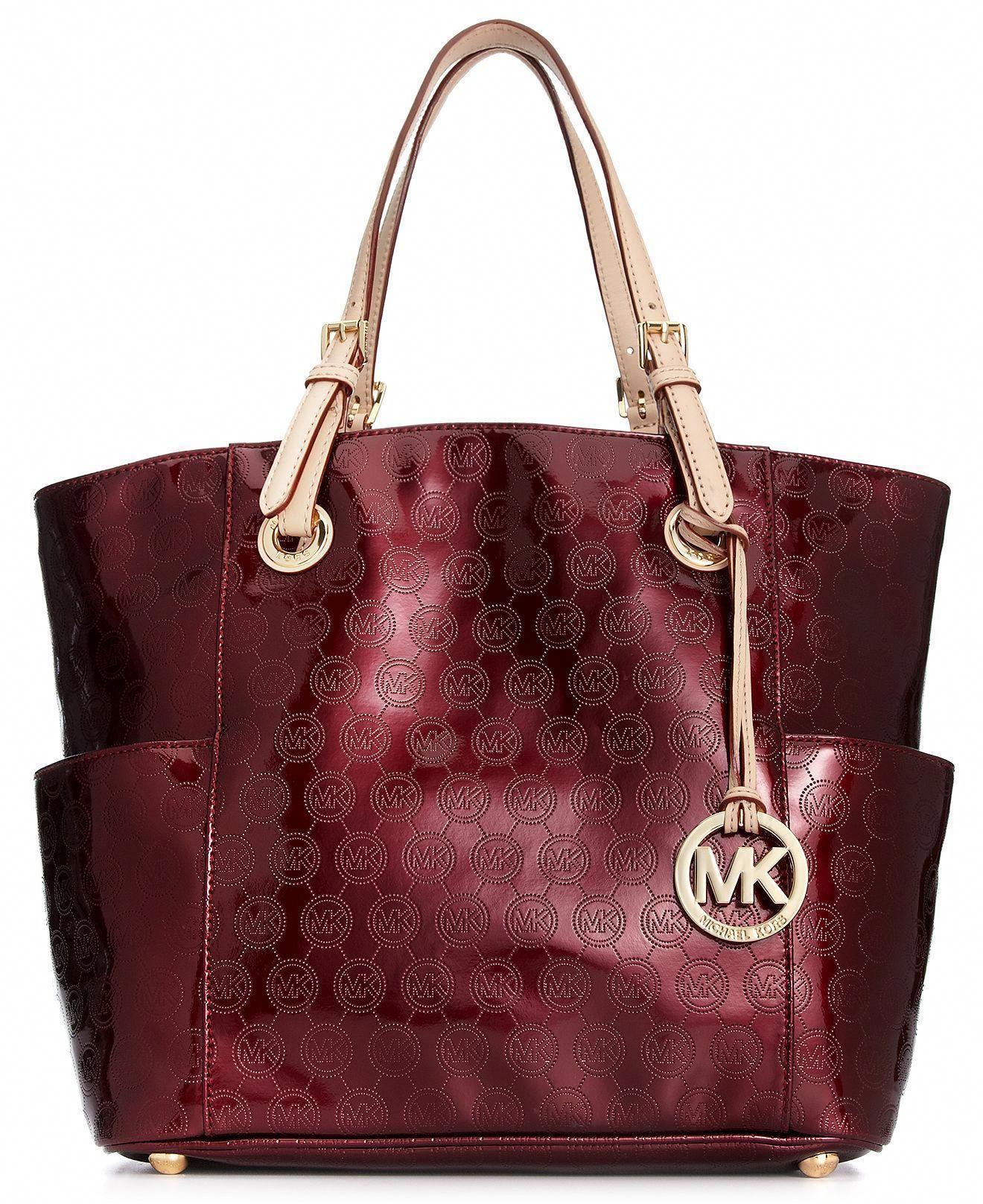 ccb45d1eae3e4b MICHAEL Michael Kors Handbag, Signature Patent East West Tote - Shop All -  Handbags & Accessories - Macy's #Handbagsmichaelkors