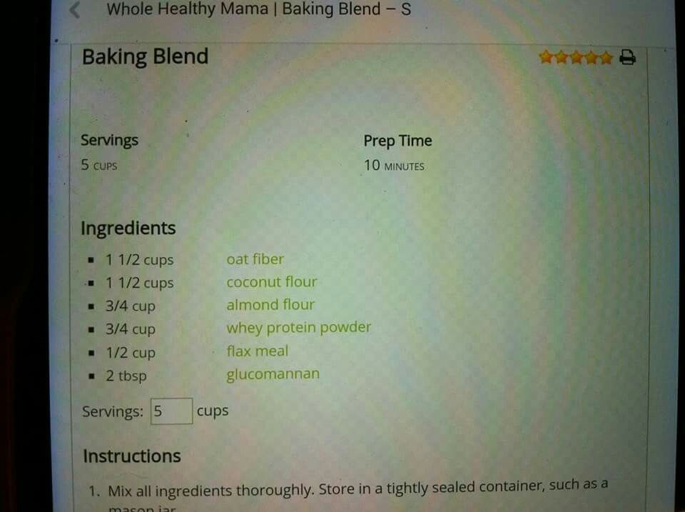 Baking blend substitute | Trim healthy mama