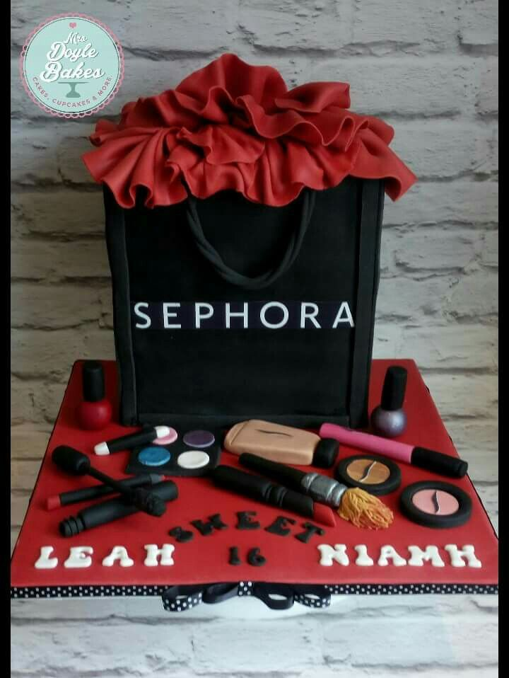 A Joint 16th Birthday Cake For Two Huge Sephora Make Up Fans Tangy