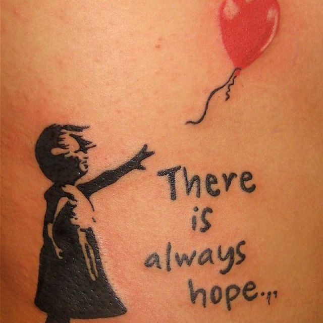 db0bebdb2 Banksy's art in tattoo form.