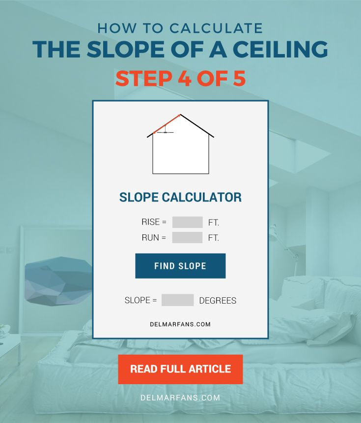 How to calculate the angle of a vaulted ceiling calculator enter the rise and run measurements into our rise over run calculator to find the slope sciox Images