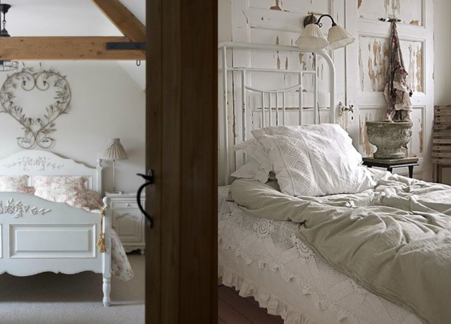 20 inspirations pour une chambre Shabby Chic | Shabby, Brocante and ...