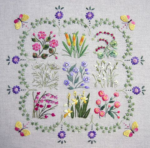 Herbier kit | The French Needle | French Needlework Kits, Cross Stitch, Embroidery, Sophie Digard