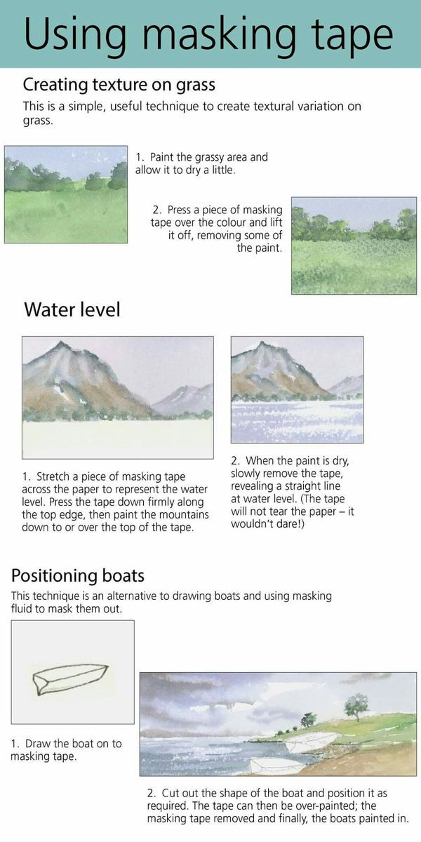 How To Use Masking Tape Watercolor Painting Techniques