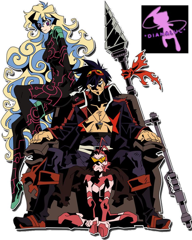 Gurren Lagann By Dianaluc On Deviantart Gurren Lagann Awesome Anime Anime Shows