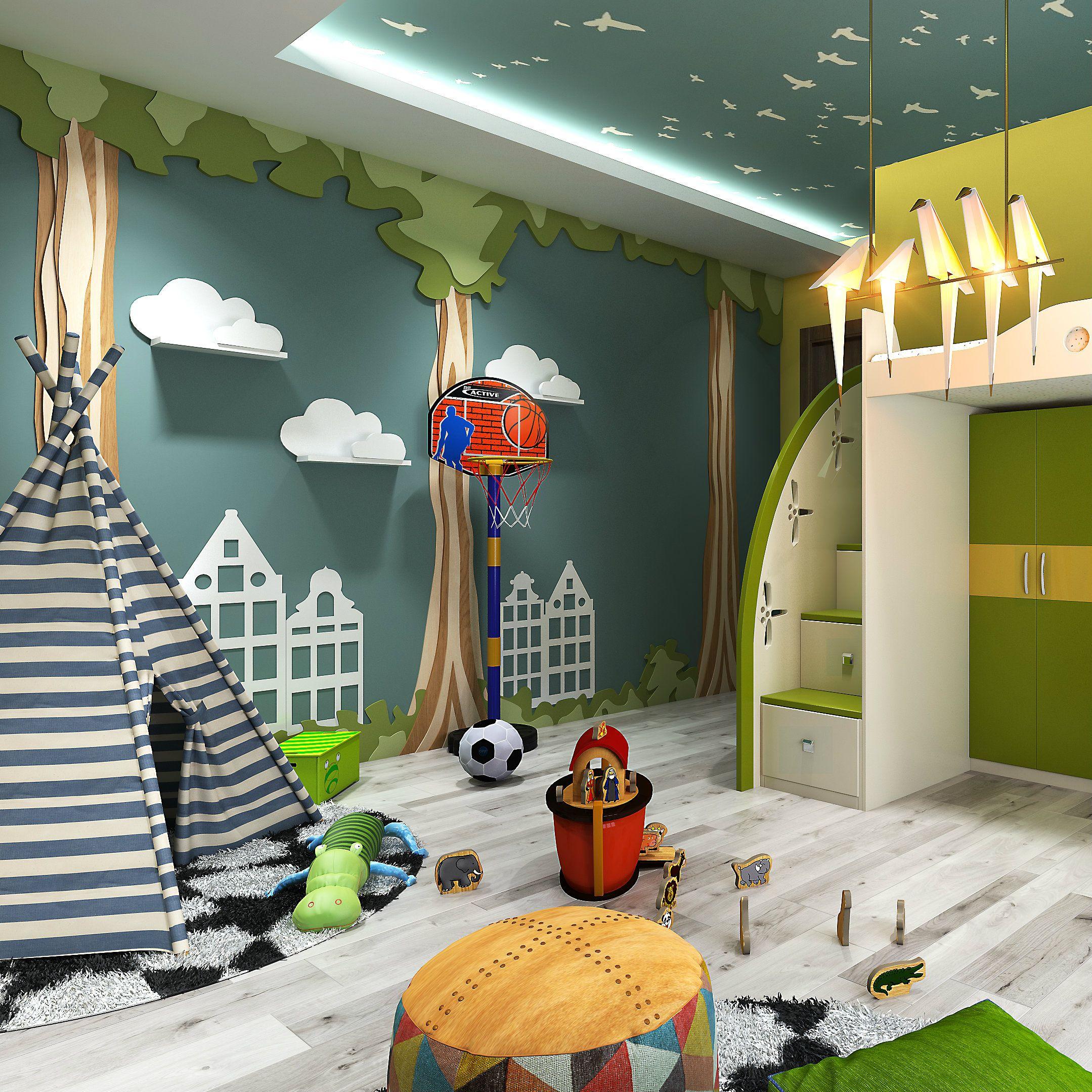 A Camping Inspired Kids Room That Kids Will Love Kids Bedroom Designs Game Room Kids Boys Bedroom Makeover