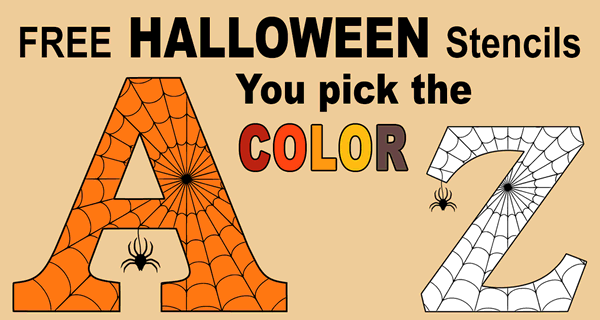 Printable Halloween Letters Numbers And Stencils Free Patterns Free Stencils Halloween Letters Stencils