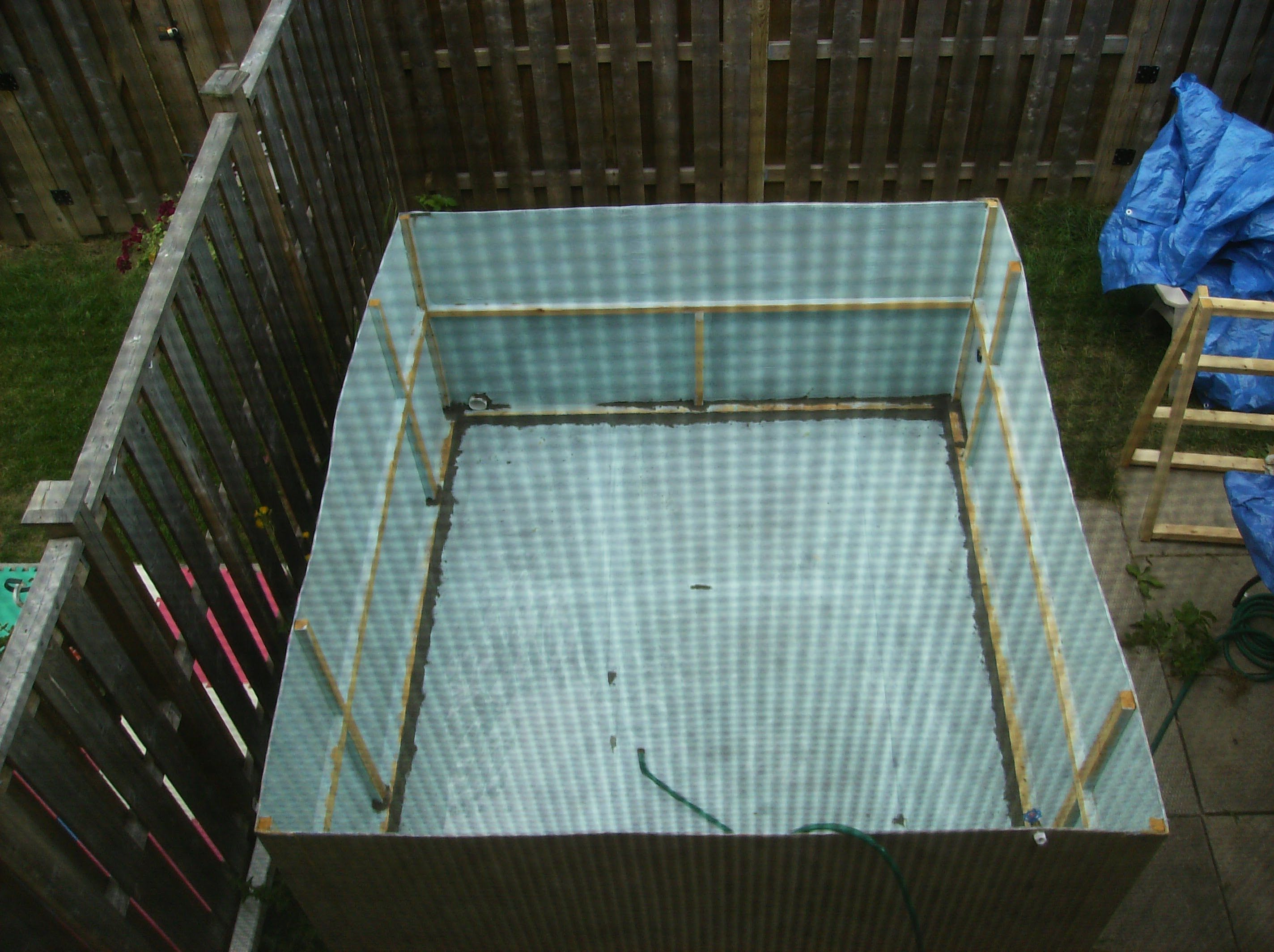 Build Your Own Cardboard Swimming Pool Diy Howto Shabby Swimming