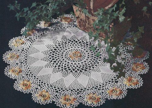 Vintage Crochet Pattern Ivy Irish Rose Doily Ivyrosedoily Crochet
