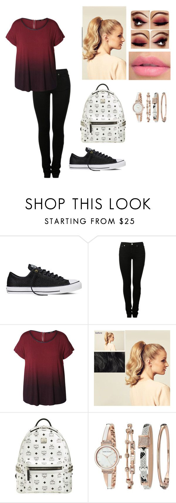 """""""Ella's Outfit"""" by shecola on Polyvore featuring Converse, MM6 Maison Margiela, Dex, Hershesons, MCM, Anne Klein and plus size clothing"""
