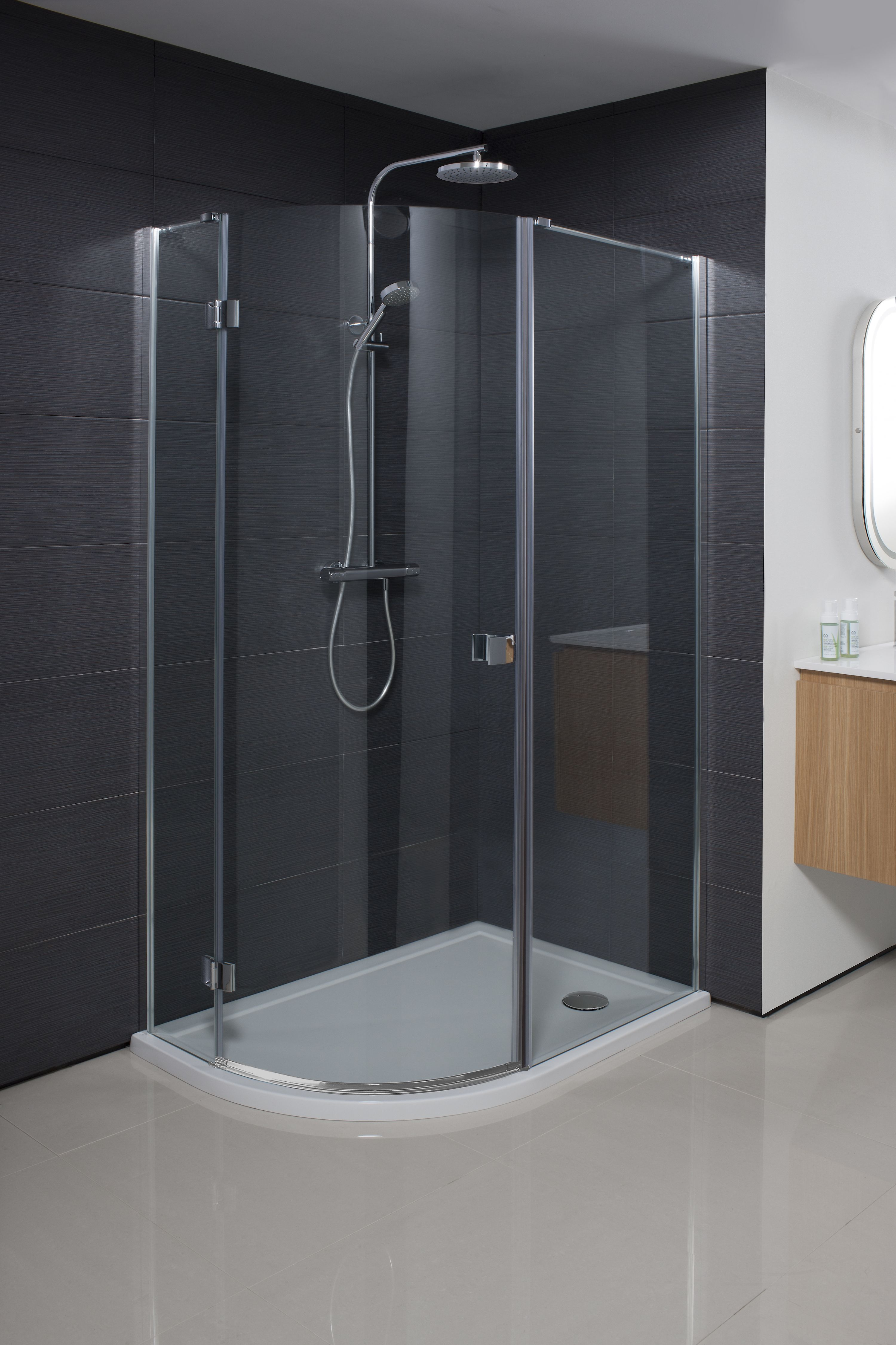 Design 8 Quadrant Single Door Shower Enclosure Glass Shower Enclosures Quadrant Shower Enclosures