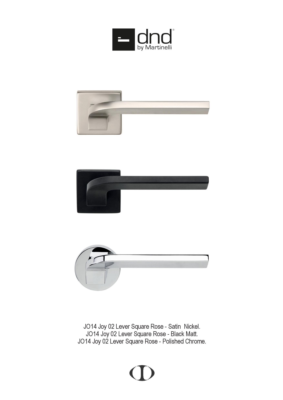 Joy Lever, Door Handle, Square, Round, Rose, Satin Nickel, Black