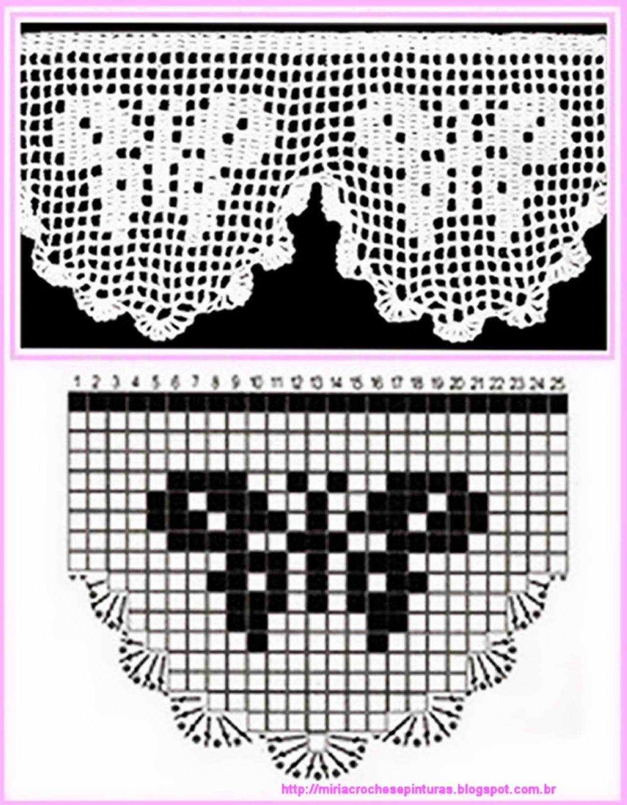 Miria Croches E Pinturas Barrados De Croche Com Borboletas