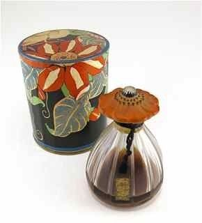 Lot:114: 1920s Depinoix Arden Perfume Bottle, Lot Number:114, Starting Bid:$1200, Auctioneer:Perfume Bottles Auction, Auction:114: 1920s Depinoix Arden Perfume Bottle, Date:01:00 PM PT - Apr 29th, 2011