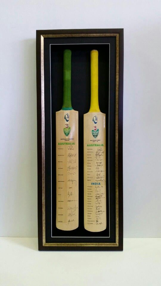 Signed Cricket Bats By The Australian Team A1 Frames 8 104 Newmarket Rd Windsor Q