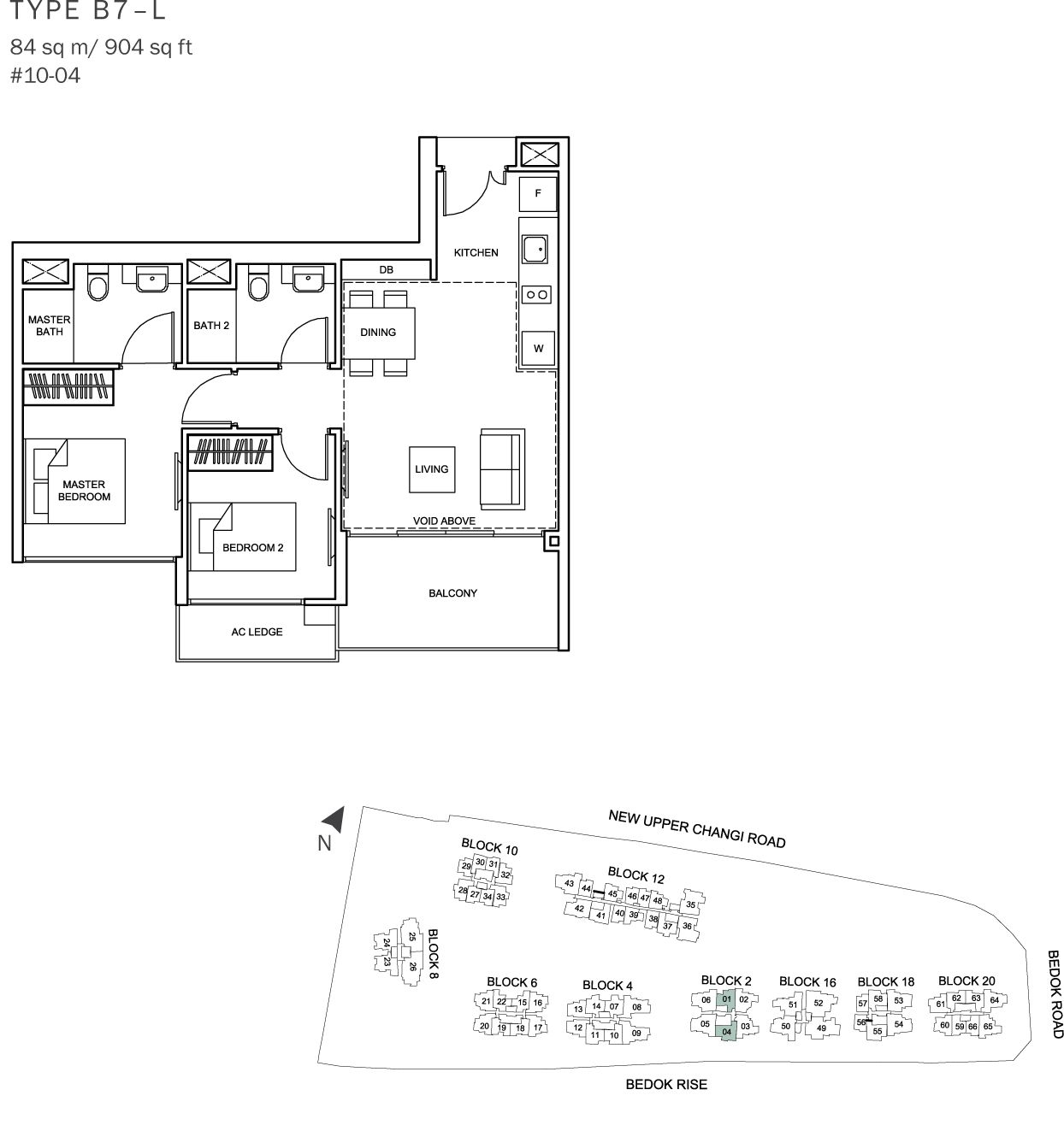 The Glades Condo Floor Plan 2br Loft B7 L 84 Sqm 904 Sqft Condo Floor Plans Property Guide Condo