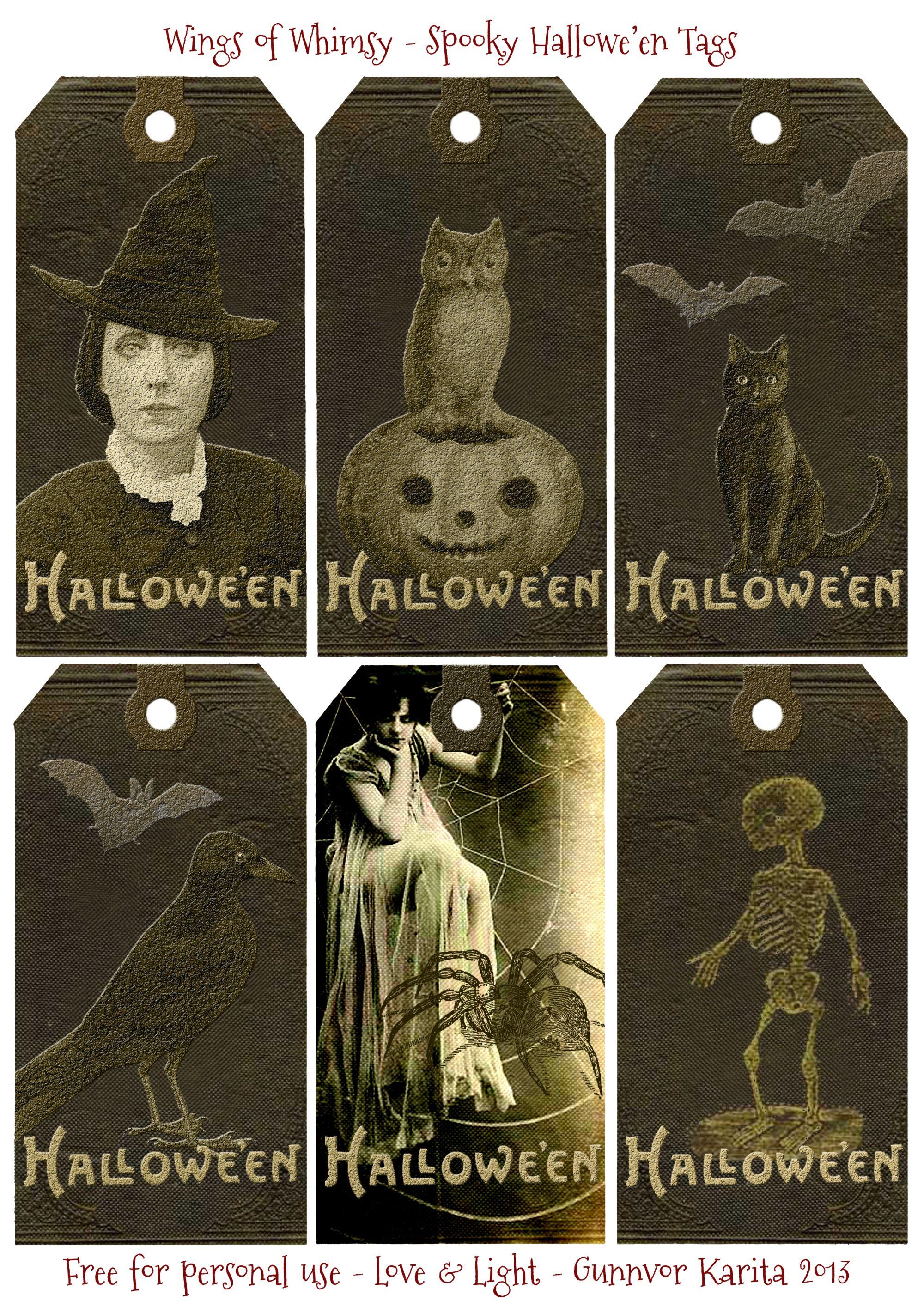 Spooky halloweuen tags u vintage style spooky halloween