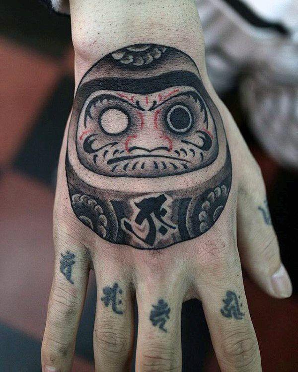 60 Daruma Doll Tattoo Designs For Men Japanese Ink Ideas Daruma Doll Tattoo Japanese Hand Tattoos Daruma Doll