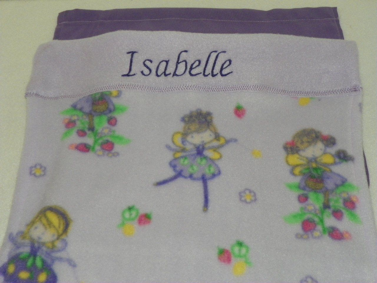 Personalized u monogrammed with name isabelle lavender fairy