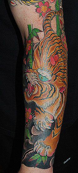 Bamboo Tiger Tattoo Sleeve Tiger Bamboo Tattoo Tattoo Ideas