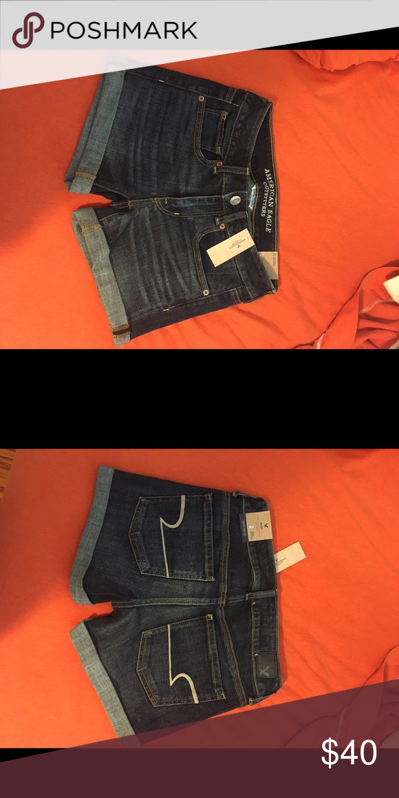 Never worn American Eagle midi shorts never worn, midi shorts still have tag on them American Eagle Outfitters Shorts Jean Shorts