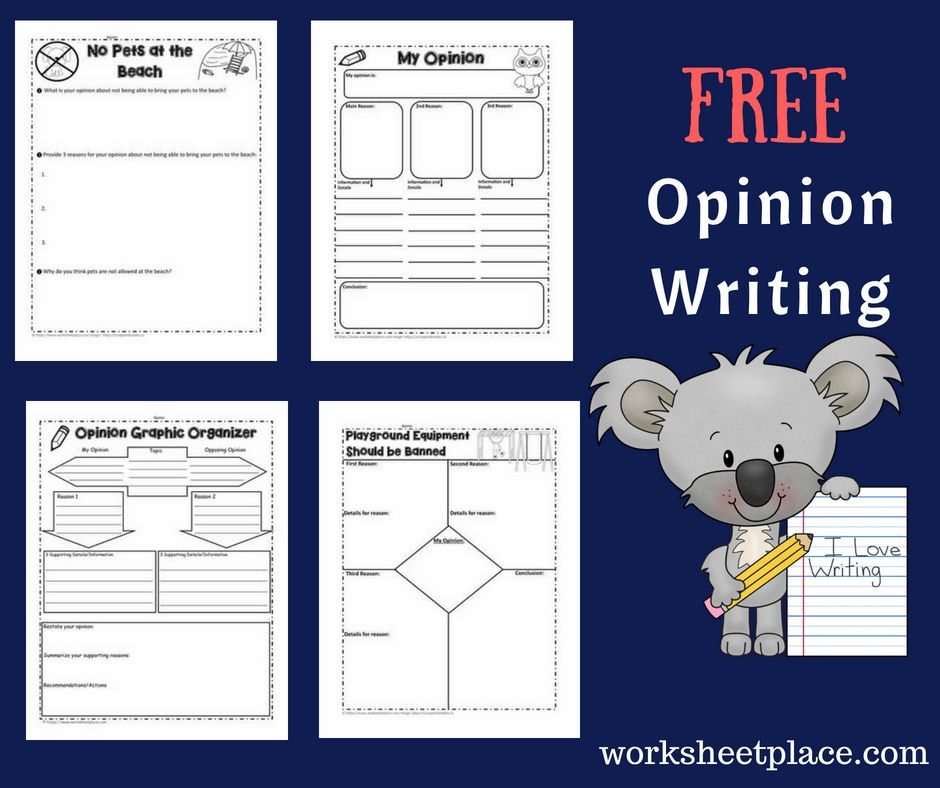 Free opinion writing worksheets ideas and graphic