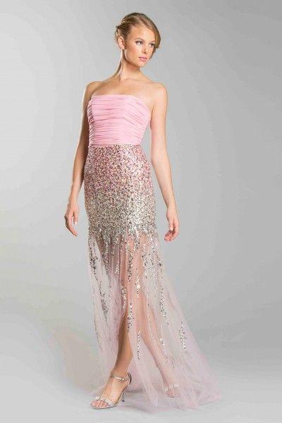 Plus size sheer bottom dress