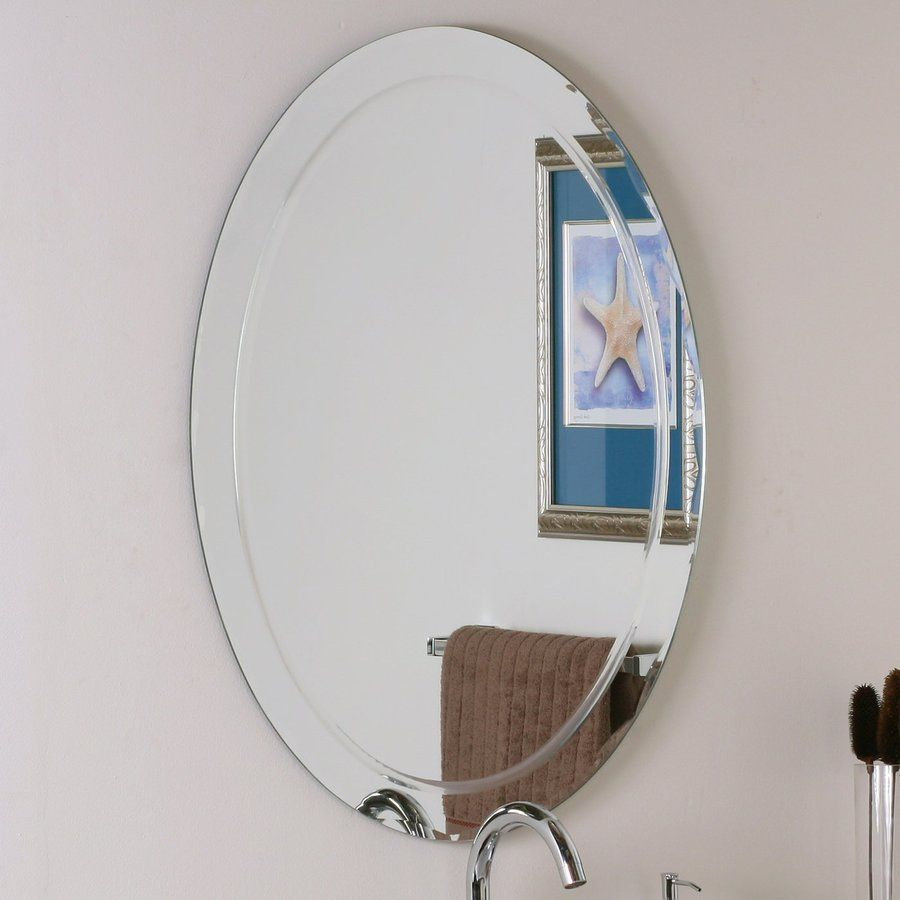 Shop Decor Wonderland 23 6 In W X 31 5 In H Oval Frameless Bathroom Mirror With Hardware And B Oval Mirror Bathroom Modern Bathroom Mirrors Mirror Wall Bedroom [ 900 x 900 Pixel ]