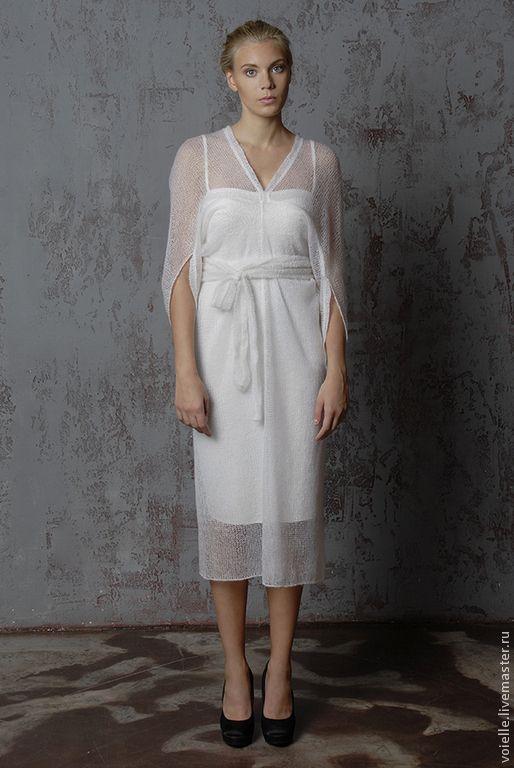 Белое платье трикотаж купить