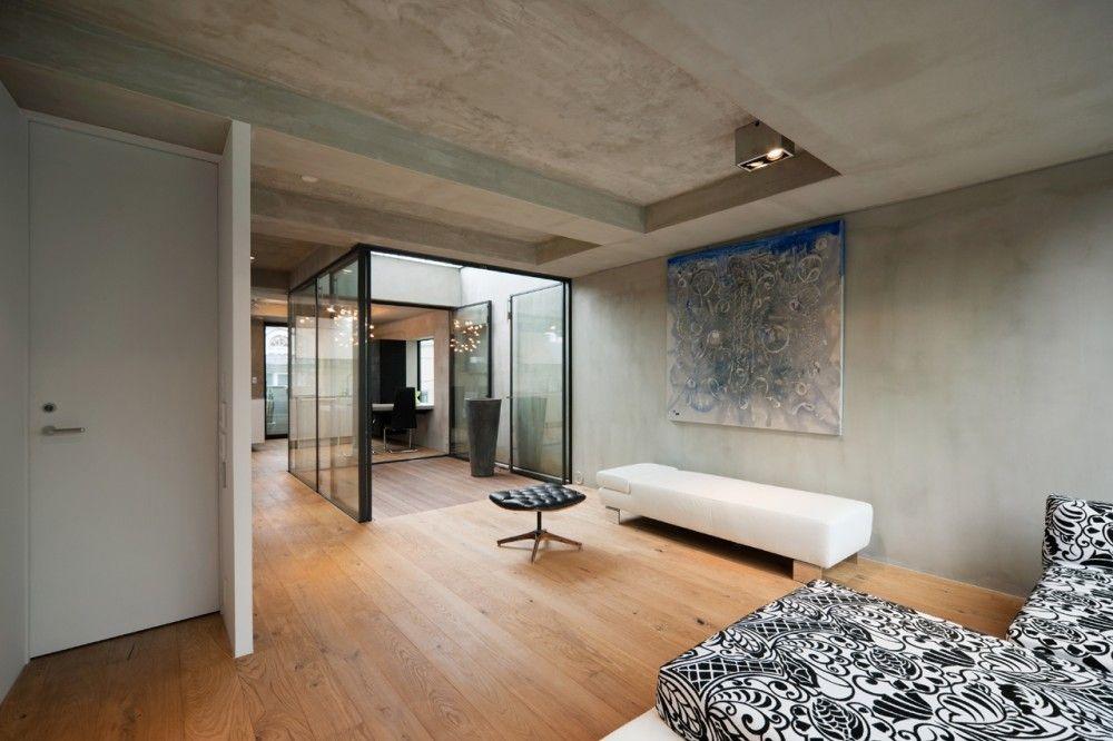 Modern Interieur Herenhuis : Huiskamer hout glas japan herenhuis sky court keji ashizawa
