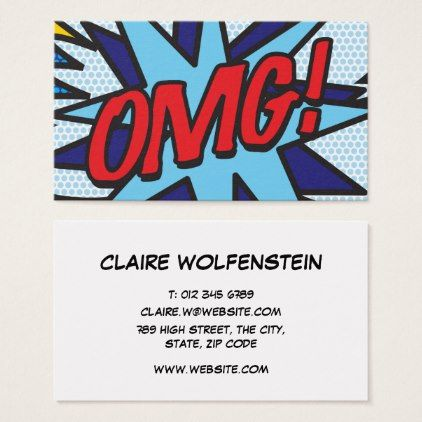 Personalised Pop Art Comic Book Business Card Office Gifts Giftideas