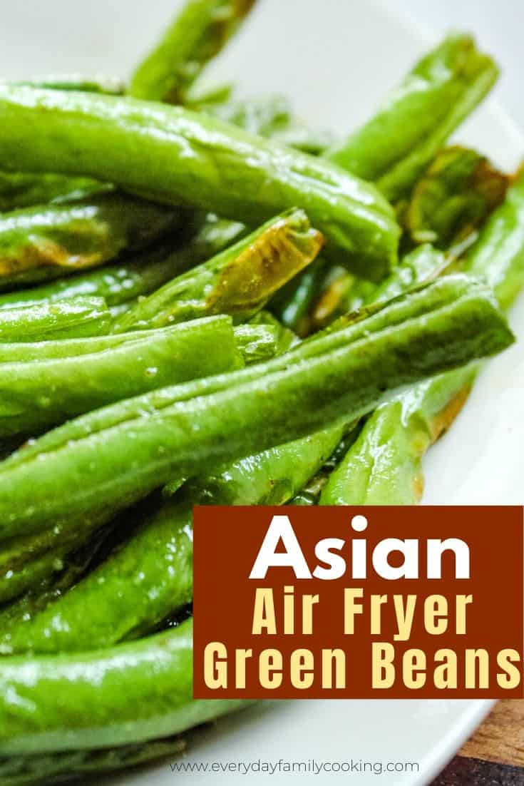Asian Style Air Fryer Green Beans Low Carb Vegan Recipe Green Beans Green Bean Recipes Bean Recipes