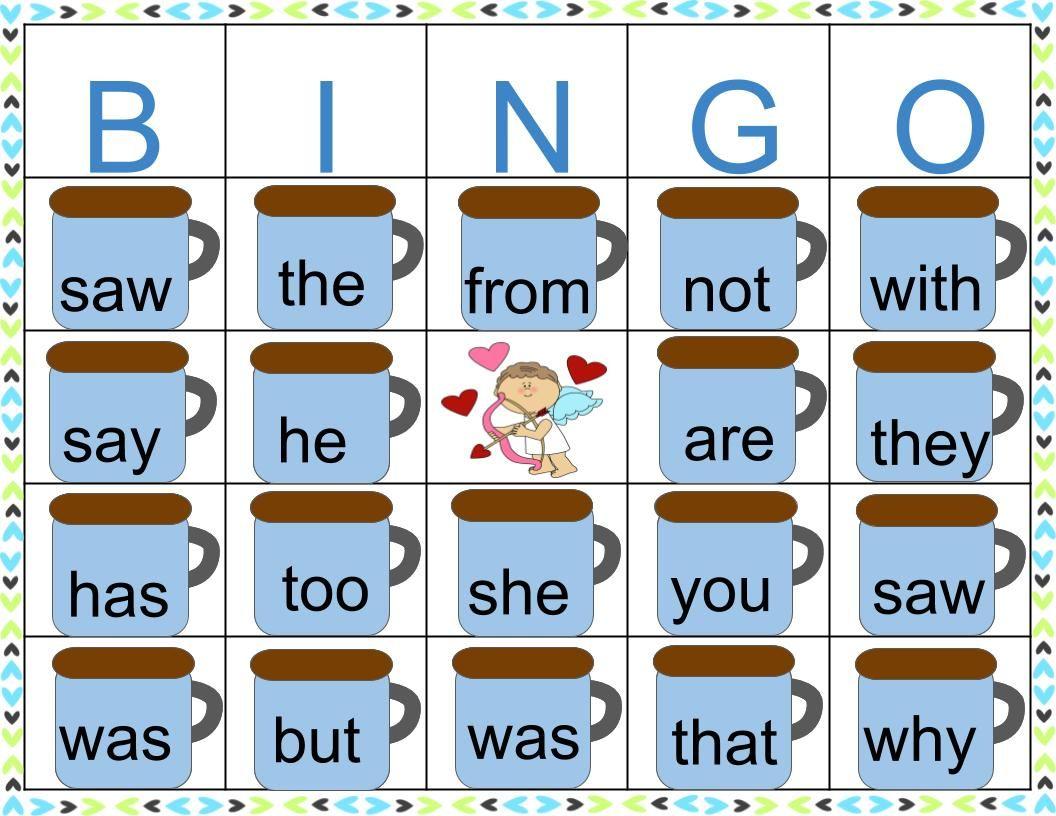 Sight Word Valentine S Day Marshmallow Bingo